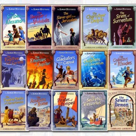 Caroline Lawrence Roman Mysteries 15 Books Collection Set Pack